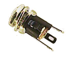 DC Power Jack, Barrel-type, 2.1mm – Panel Mount
