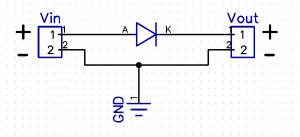 Reverse Protection Using a Diode