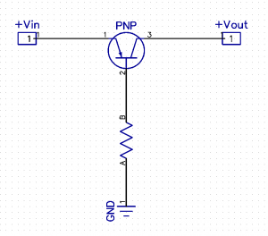 Reverse Polarity Protection using a PNP Transistor