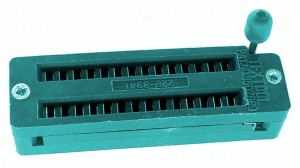 ZIF Socket – 28 pin, 0.3″ wide